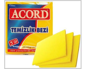 Sarı 3 lü Temizlik Bezi