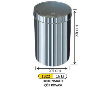 Dokunmatik Çöp Kovası 16 lt
