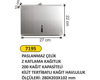 Metal Z Havlu Aparatı 200 Lü