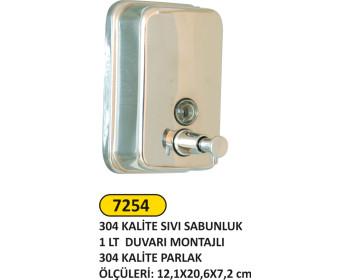 Metal Sıvı Sabunluk 1000 Ml