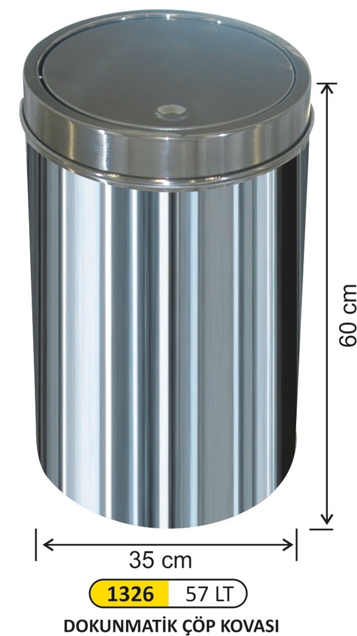 Dokunmatik Çöp Kovası 57 lt