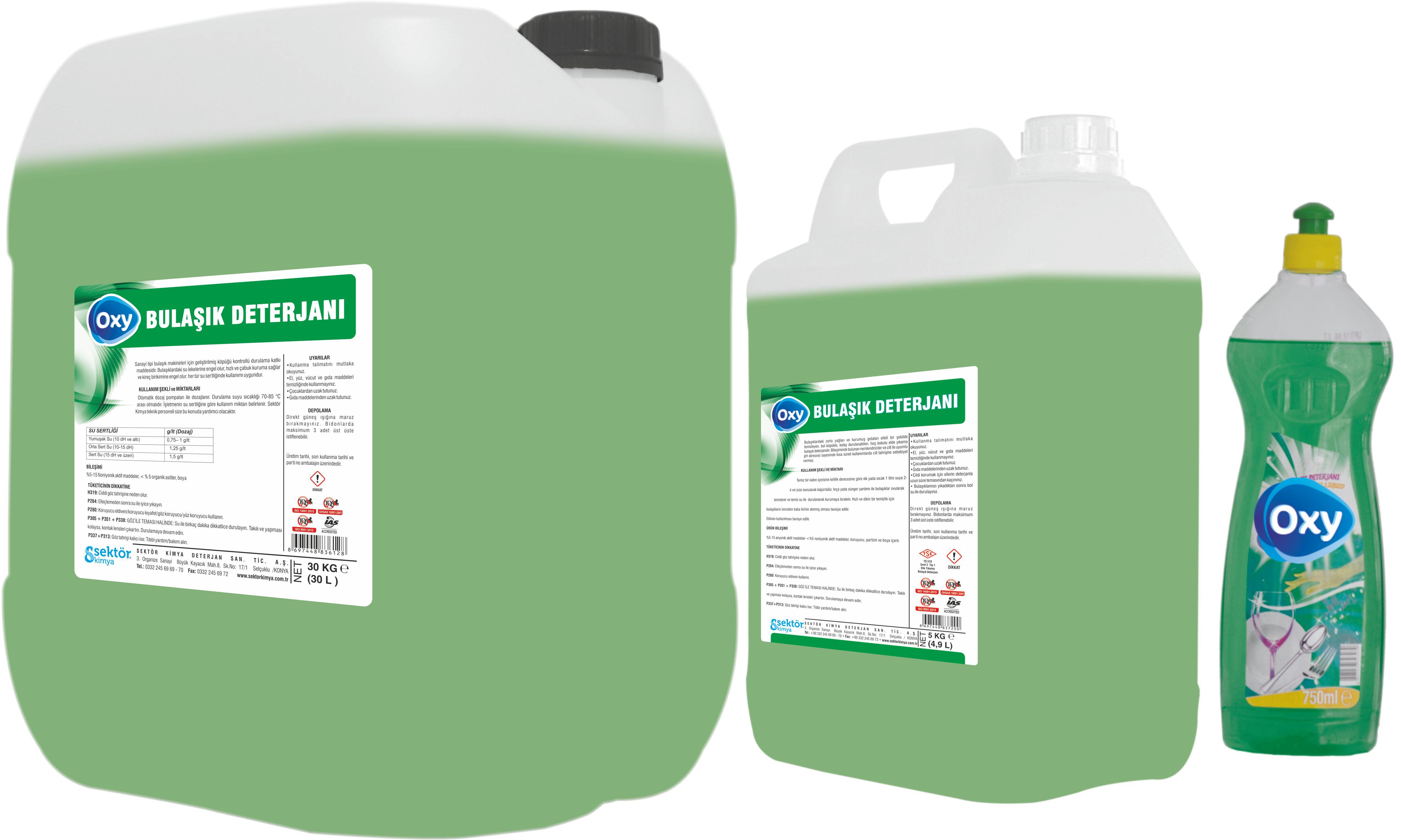 Oxy Sıvı Bulaşık Deterjanı 30 k.g