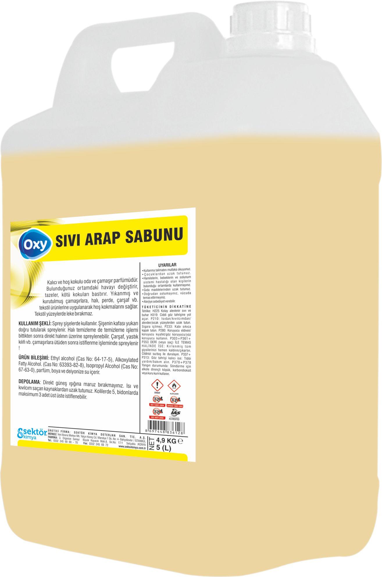 Oxy Sıvı Arap Sabunu 30 K.g